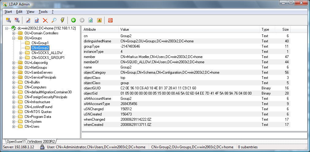 Dante -- LDAP Module Documentation